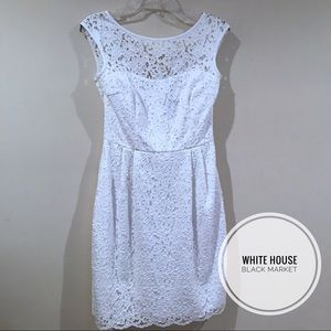 EUC White House Black Market Sleeveless Dress 4